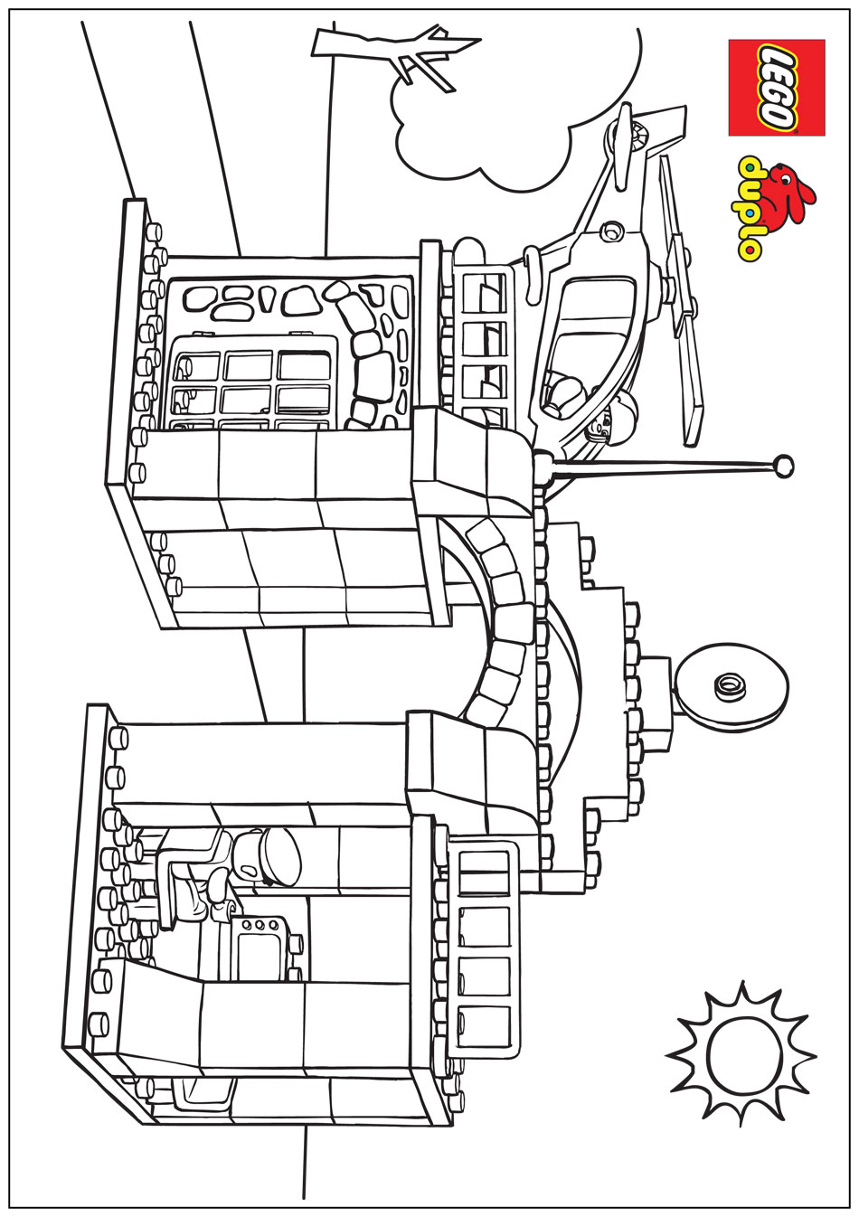 Lego City Station Colouring Pages Page 2