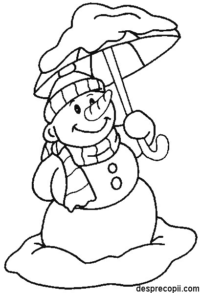 Om de zapada cu umbrela - plansa colorat
