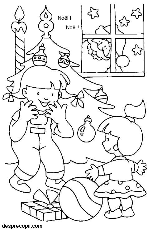 Planse De Colorat Copiii Si Cadourile Desprecopiicom
