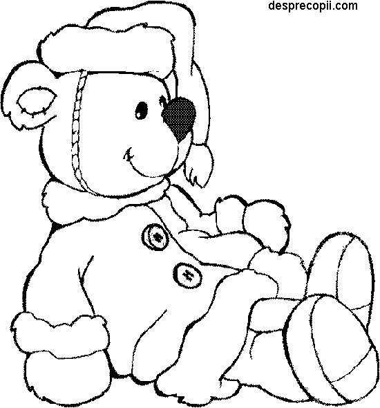 Ursulet de plus - plansa colorat