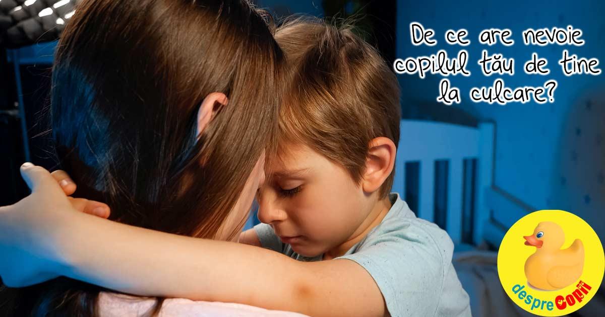 Copilul tau nu vrea sa adorma decat cu tine? Iata de ce are nevoie de tine, draga mami si tati