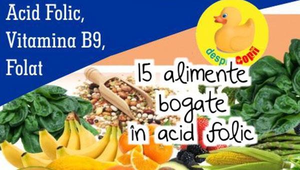15 alimente bogate in acid folic