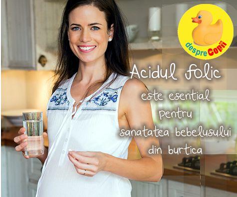 Acidul folic si sarcina: importanta, surse si dozare