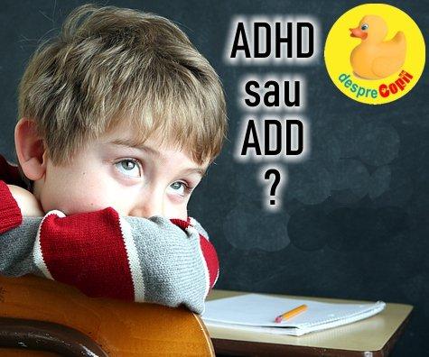 ADHD si ADD: care e diferenta