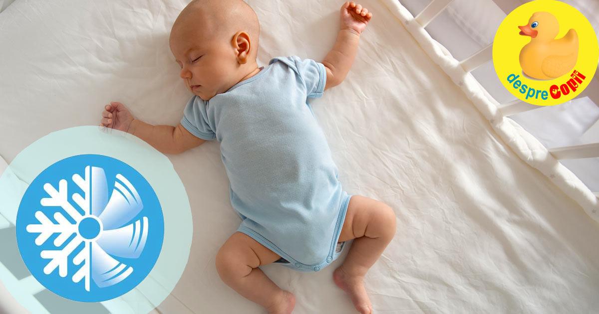 Putem pune un aparat de aer conditionat in camera bebelusului? Iata care sunt regulile de siguranta pentru ca bebe sa nu se imbolnaveasca.
