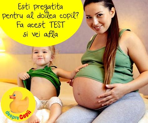 Esti pregatita pentru al doilea copil? Fa acest TEST si vei afla