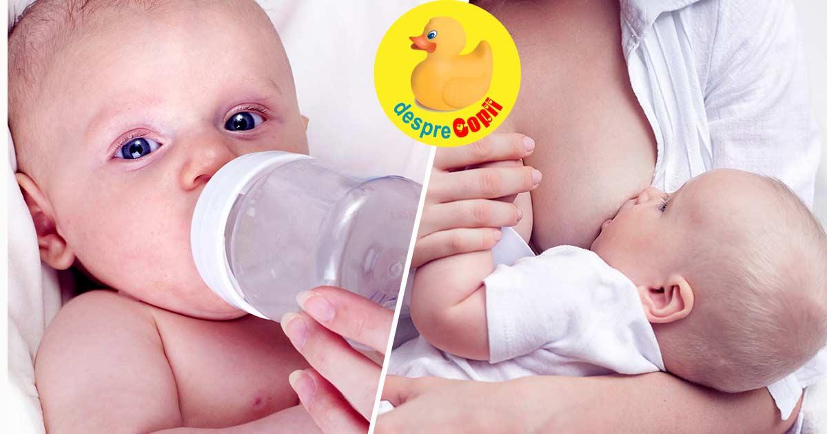 Lapte de la san sau lapte praf formula? Ce dam bebelusului si de ce