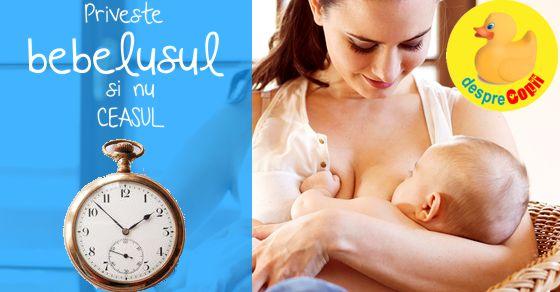 Alaptarea la cerere: tot ce trebuie sa stii pentru un bebe fericit