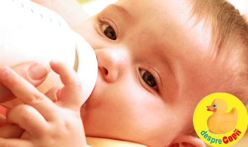 Hranirea mixta a bebelusilor cu lapte matern si lapte formula: riscuri pentru bebelus