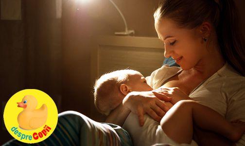 Alaptarea in timpul noptii: cum isi regleaza bebelusul singur orele de mancare