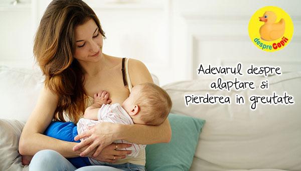 Alaptarea bebelusului si acele kilograme in plus pe care am vrea sa le pierdem - iata cum arata realitatea