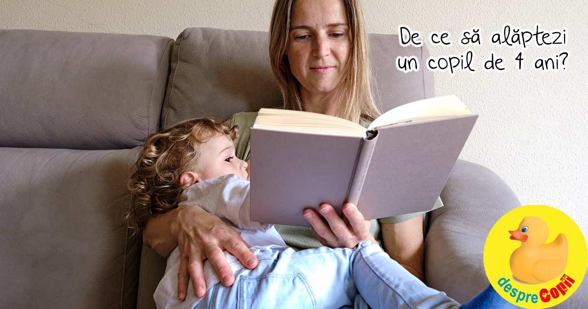 De ce alaptezi un copil de 4 ani intreaba curioasele. Pentru ca il iubesc, DE ASTA - confesiunile unei mame