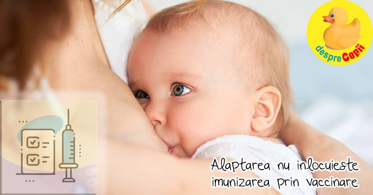Alaptarea bebelusului nu inlocuieste imunizarea sa prin vaccinare - iata ce trebuie sa stii draga mami