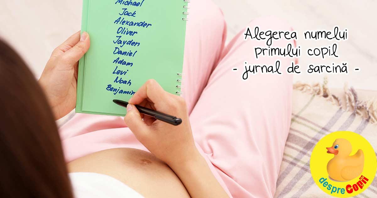 Alegerea numelui primului copil - jurnal de sarcina