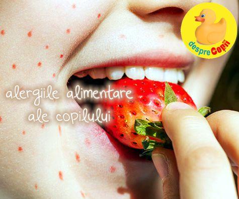 Semnele alergiilor alimentare pot fi prezente inca de la nastere