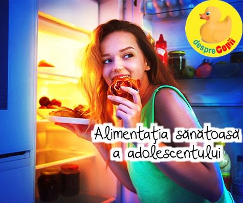Alimentatia sanatoasa a adolescentului: ghid