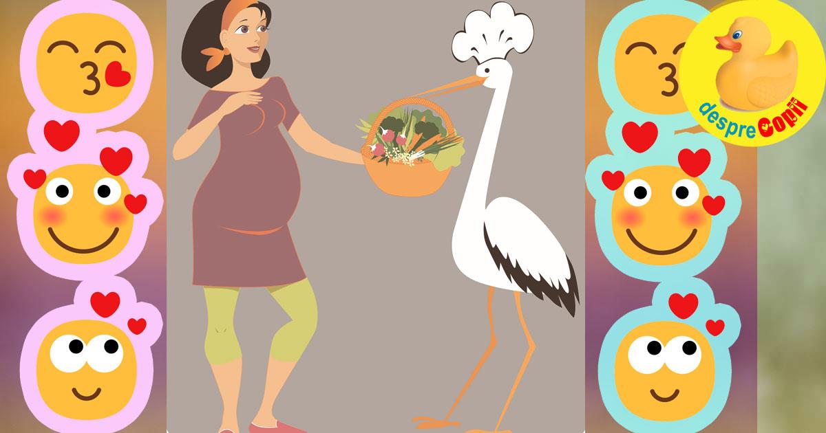 Alimentatia femeii si sexul viitorului bebelus. Sau ce oferi berzei ca sa iti aduca o fetita sau un baietel.