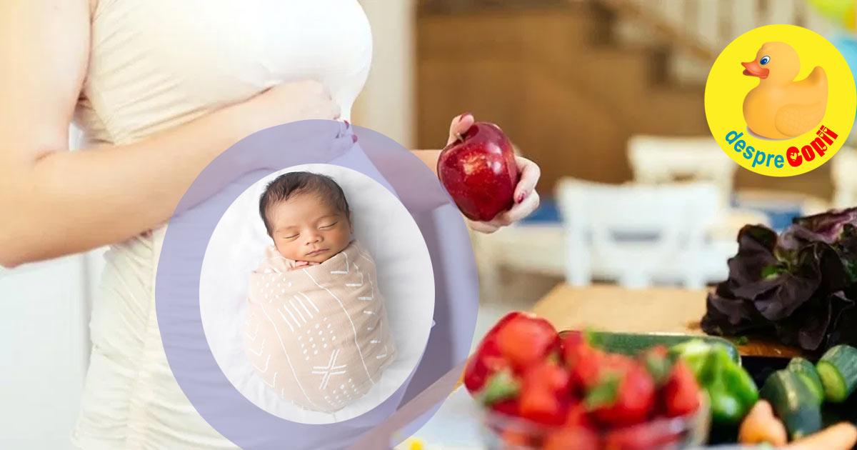 Sanatatea copilului este modelata in uter de gene si de alimentatia mamei. Iata cat de important este sa mananci sanatos draga mami.