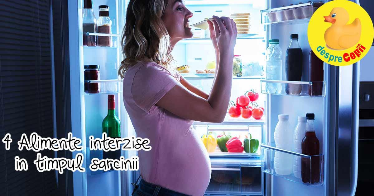 Esti insarcinata? Aceste 4 alimente pot fi toxice pentru bebe din burtica