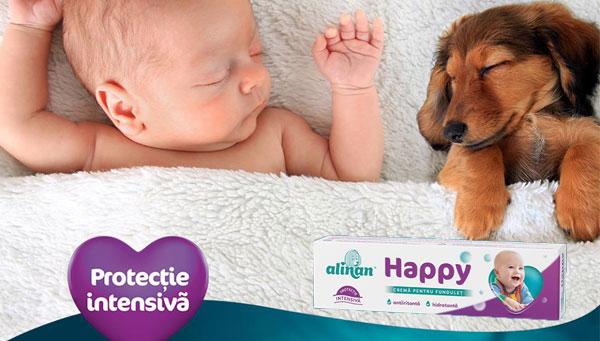 Un bebelus linistit e un bebelus fericit