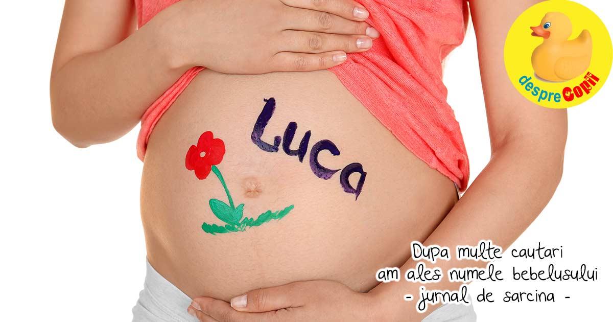 Dupa multe cautari, am cazut de acord in alegerea numelui iar bebe se numeste... - jurnal de sarcina