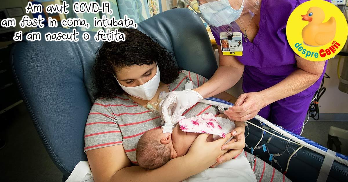 Mama testata pozitiv COVID-19 da nastere unui copil sanatos in timp ce este in coma