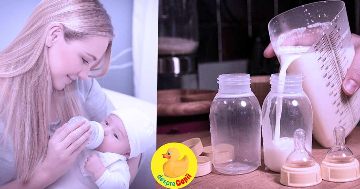 Pot amesteca laptele matern si formula in acelasi biberon? Iata sfatul medicului pediatru.