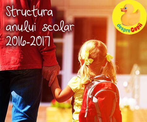 Structura anului scolar 2016-2017