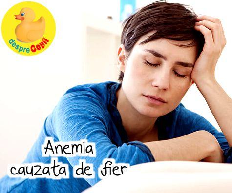 Anemia cauzata de lipsa fierului
