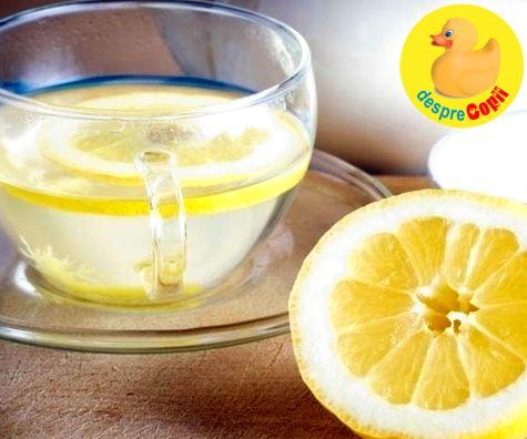 15 motive sa bei in fiecare dimineata apa cu lamaie