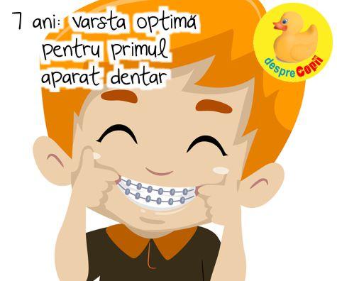7 ani - varsta optima pentru primul aparat dentar