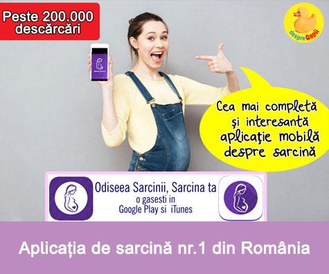 Odiseea Sarcinii, Sarcina ta: aplicatia nr. 1 de sarcina din Romania