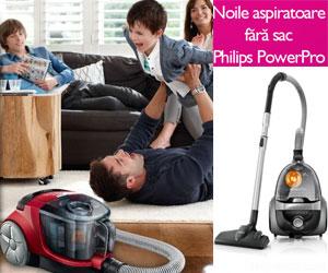 Curatenie perfecta cu aspiratoarele fara sac Philips PowerPro!