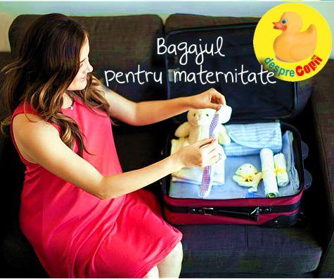 Bagajul pentru maternitate: liste de verificat