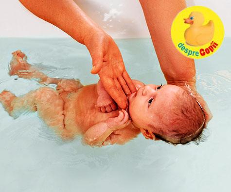 Cand putem sa ii facem bebelusului baie in cada?