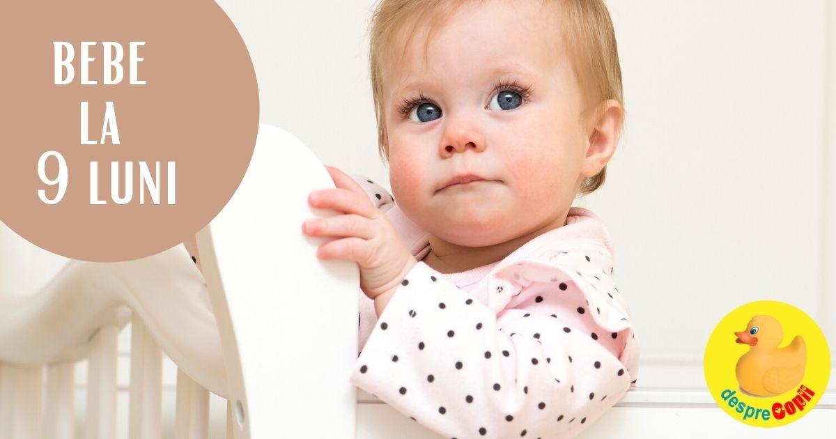 Bebelusul la 9 luni: se catara pe orice si e gata sa manance alimente degetel