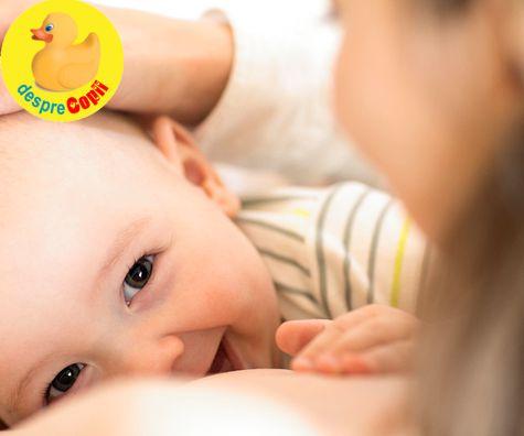 Cand bebelusul musca sanul in timpul alaptarii