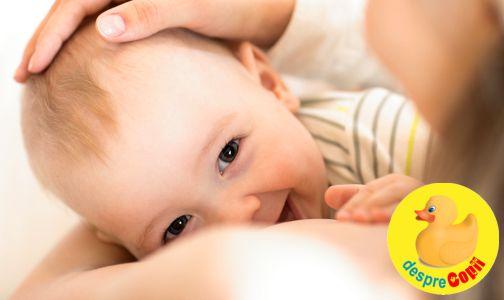 Cand bebelusul musca sanul in timpul alaptarii - iata cum procedam