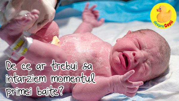 Prima baie a bebelusului - de ce ar trebui sa intarziem acest moment