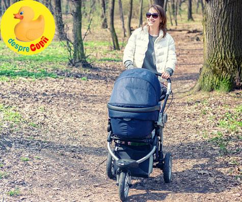 Chiar din prima luna, scoate-l pe bebe din casa la plimbare insa ai grija la aceste reguli