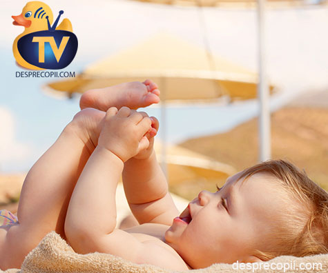 Expunerea la soare a copilului mic, a bebelusului