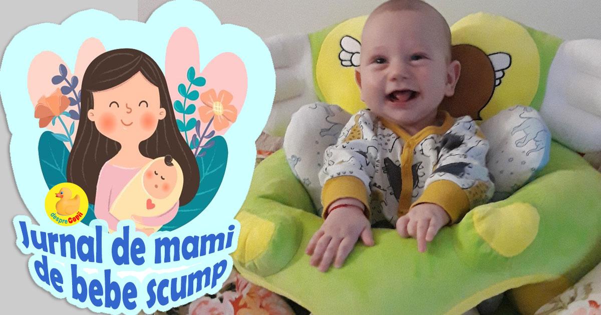 Bebe a inceput sa stea in fundulet si am descoperit o suzeta pentru inceperea diversificarii - jurnal de mami de bebe scump