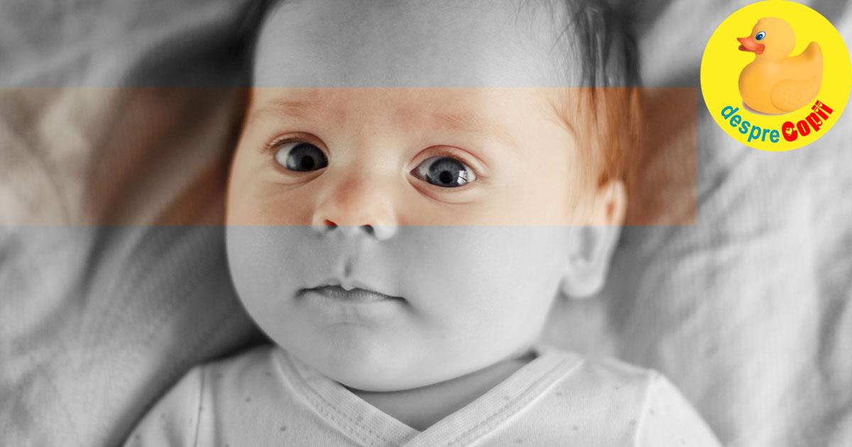 Bebelusul tau are ochii albastri? S-ar putea sa fii suprinsa de culoarea ochilor sai mai tarziu