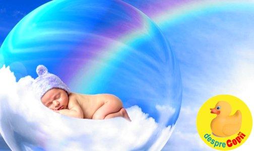 Bebelusul curcubeu: cand soarele straluceste iar pe cerul vietii tale