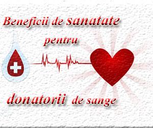 Beneficii de sanatate pentru donatorii de sange
