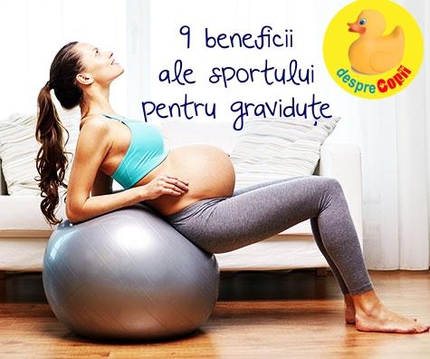 Sportul in timpul sarcinii: 9 beneficii pentru gravidute