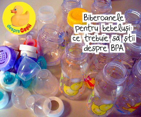 Biberoanele pentru bebelusi: ce trebuie sa stii despre BPA