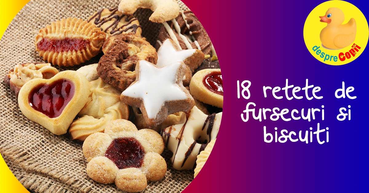 18 retete rapide de biscuiti si fursecuri