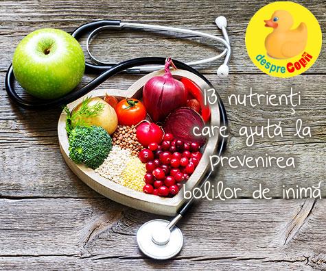13 nutrienti care ajuta la prevenirea bolilor de inima