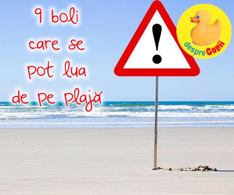 9 boli care se pot lua de pe plaja